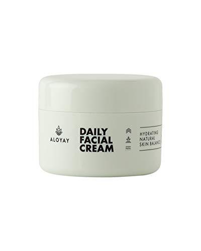 ALOYAY ® Daily Facial Cream - Tagescreme mit Hyaluron auf Bio Aloe Vera Basis - Naturkosmetik 100%...