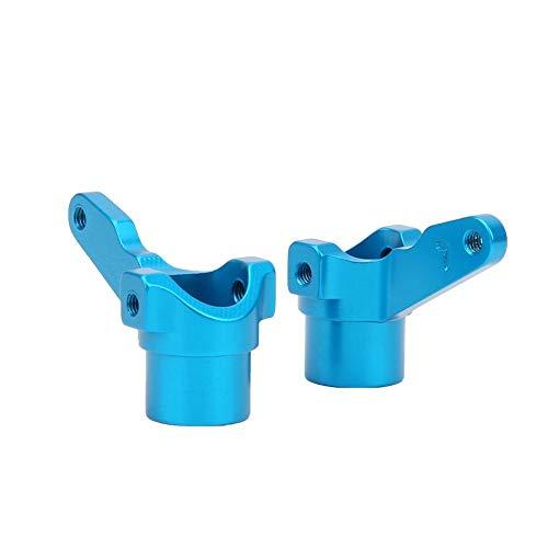 Brazo de Nudillo de Coche RC, 2 Piezas de Aleación de Aluminio con Brazo Articulado Compatible con el Vehículo Todoterreno KYOSHO 4WD Optima Maxima 1:10(Azul)