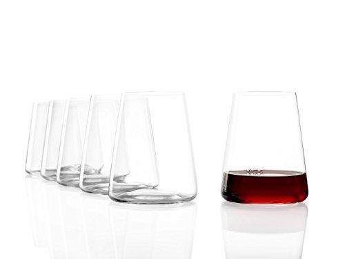 Stölzle Lausitz Power Weinbecher ohne Stiel I 515 ml I 6er Set Rotwein Gläser I spülmaschinenfest I bleifreies Kristallglas I hochwertige Qualität I elegante und bruchbeständige Weingläser