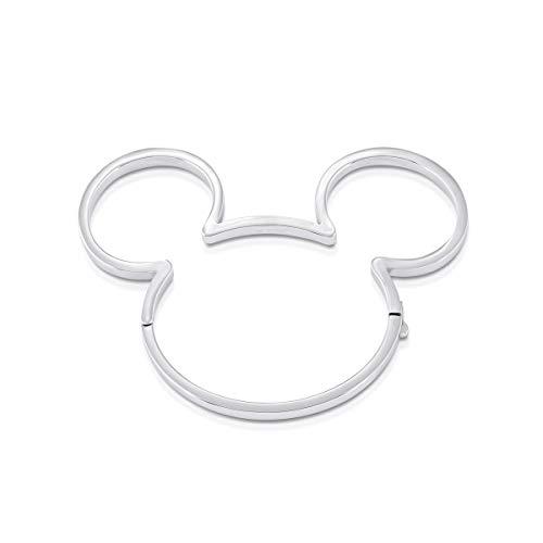 Disney Couture Kingdom - Brazalete Chapado en Oro Blanco de 90 años con diseño de Mickey Mouse