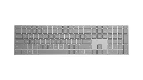 Microsoft – Surface Keyboard – Clavier sans fil Bluetooth compatible Windows et macOS (Clavier AZERTY français) – Gris (WS2-00004)