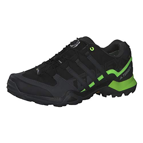 adidas Mens Terrex Swift R2 GTX Walking Shoe, Core Black/Solid Grey/Signal Green, 42 2/3 EU
