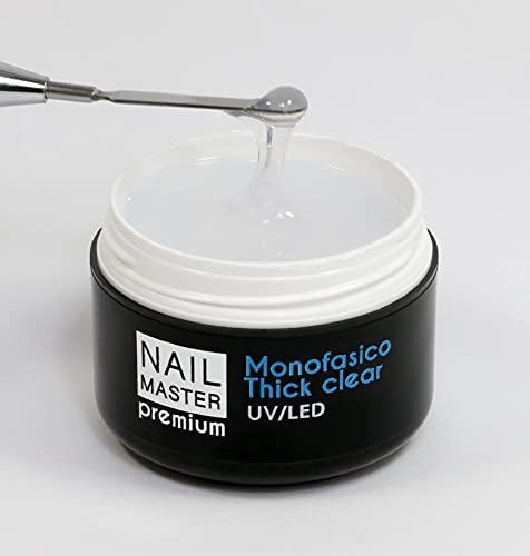 Nail Master Premium 30g, Monofasico Thick Clear, Gel unghie...