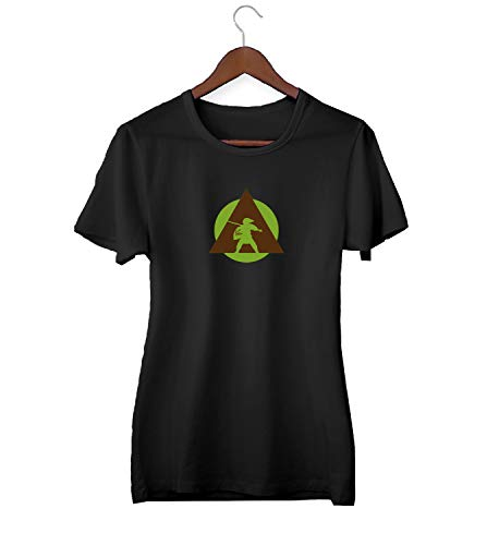 KLIMASALES Zelda Link Illuminati War_KK016323 Shirt T-Shirt Tshirt per Donne Donna - Black