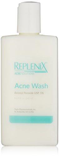 Replenix Acne Solutions Acne Wash Benzoyl Peroxide USP 5%, 8 Fl oz