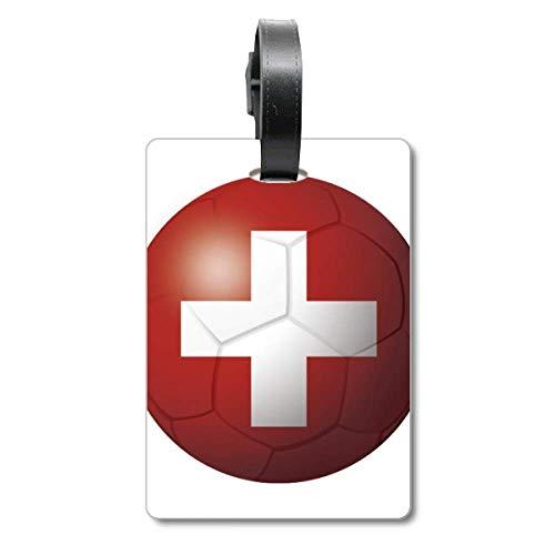 Etiqueta de identificación de turista de la bandera nacional de Suiza