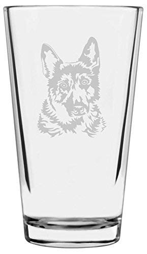 Dog Themed Etched Pint Glass