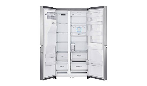 LG GSJ961NEAZ Side-by-Side-Kühlschrank, freistehender Kühlschrank aus Edelstahl 601 L A++ - Side-by-Side-Kühlschrank (freistehend, Edelstahl, amerikanische Tür, LED, Touch, Glas)