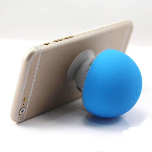 NAttnJf Altavoz Bluetooth, Seta Altavoz Bluetooth Manos Libres con micrófono Silicona Sucker estéreo Subwoofer