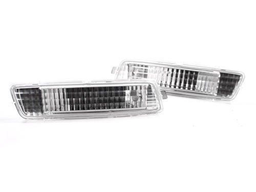 TopPick 1K9945071-1K9945072-C1 Bumper Reflector Lights FOR VW Volkswagen MK6 Golf Jetta Sportwagen 2010-2014 Clear/Chrome