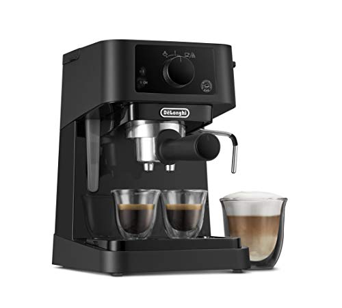 De'Longhi Stilosa Advanced EC235.BK Kaffeemaschine mit 15 Bar Druck, 1100 Watt, 1 Liter, schwarz