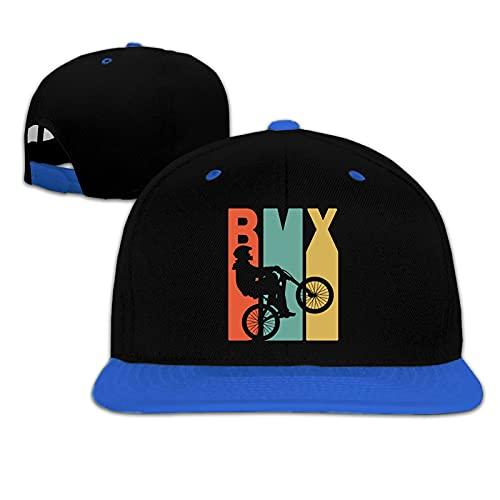 NIUPEE BMX Silhouette Bambino Sun Hat Bambini Hip Hop Baseball Cap Stampa Design Regolabile Ragazzi e Ragazze Universale