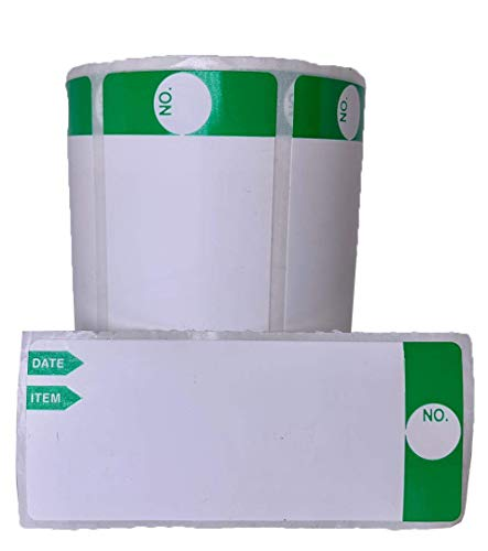 """Starlife Freezer Food Label (Green) 3"""" x 1.25"""" Self-Adhesive Removable Freezer Food Labels-Easy Peel Clean Removable Without Residue Non Tear-able and Food Safe Material, 300pcs Labels Per Roll"""