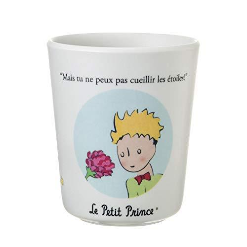 Miniatures World Le Petit Prince - Vaso con diseño de Timbale con el Principito y su rosa para niños (melamina)