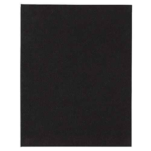 無印良品 綿麻増やせる アルミコート フリー台紙アルバム A4タイプ・10枚(20ページ)・黒 18726882