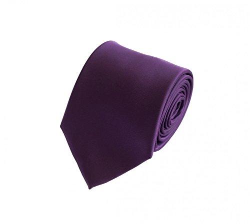 Fabio Farini - einfarbige und elegante Krawatte in verschiedenen Farben und Breiten zur Auswahl Violett 8cm