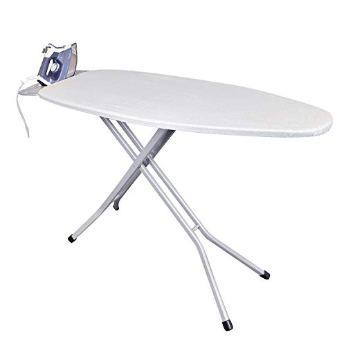 HOMZ Wide Top Ironing Board, Made in The USA, Graystone Solid