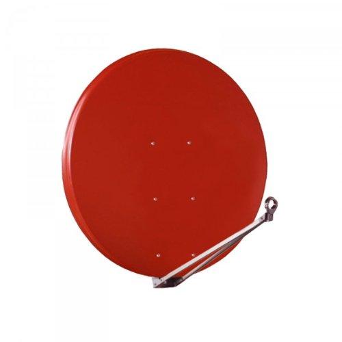 Gibertini Antenne 125 cm Alu Ziegelrot Sat Schüssel Digtal FULLHD 3D 125cm NILSAT ARABSAT TÜRKSAT AMOS