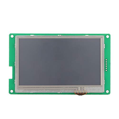 Touchscreen LCD TFT a Colori da 4,3 Pollici Touchscreen Resistenza Stampante 3D con Porta UART Supporto Testo Musica per aggiornamenti di Caratteri, Musica, Icone e Applicazioni.