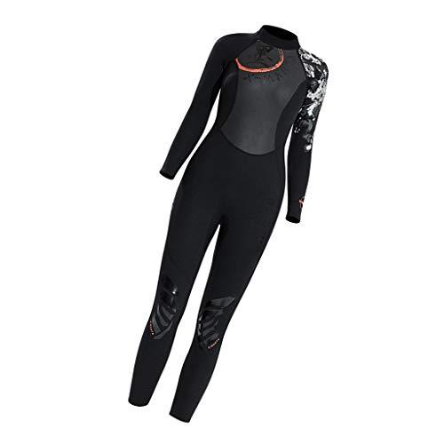 CUTICATE Damen Neoprenanzug 3mm Tauchanzug Badeanzug Schwimmanzug Surfanzug - Schwarz, L