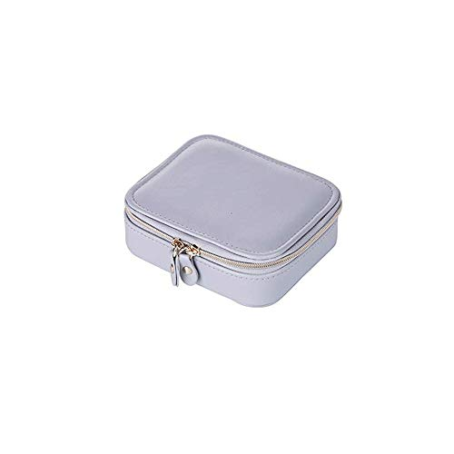 WYBFZTT-188 Jewelry Box-Jewelry Organizer Bag Travel Jewelry Storage Cases for Necklace, Earrings, Rings, Bracelet, Black (Color : Silver)