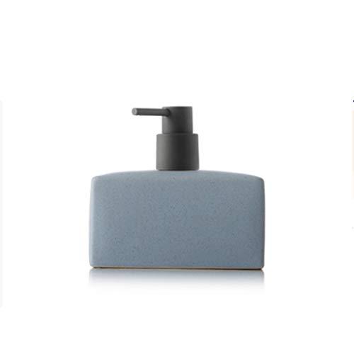 dispensador de jabón Ceramic Square Dispensador de jabón, líquido recargable bomba de jabón de gran capacidad de la bomba de la botella Apto for Cocina Baño 16,9 oz Regalo de cocina ( Color : Blue )