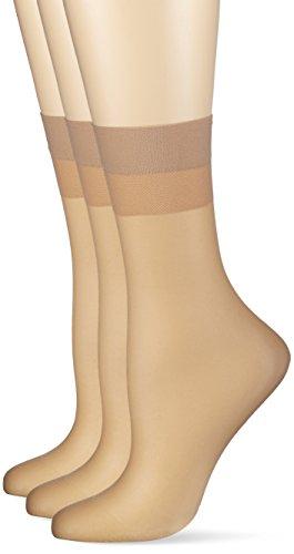 Hudson Damen 030044  Glanz Fein Socken,  15 DEN,  Beige (Teint 0010),  39/42 (3er Pack)
