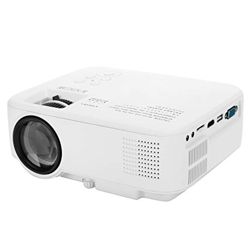 T angxi Poertable LED Projectors, 1080P Portable LED Projector Theater Video Media Player Home School Projector Built-in 3D Audio Speakers with HDMI/AV/USB/SD Card Interface(UK)