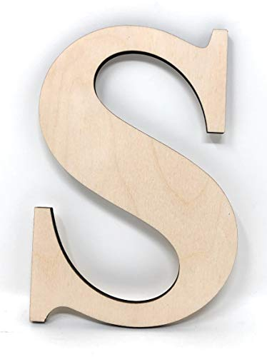 Gocutouts 12' Wooden A Unfinished Wooden Letters Paint Ready Wall Decor Times Letter (12' - 1/4', S)