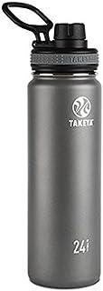 Takeya Originals Vacuum-Insulated Stainless-Steel Water Bottle, 24oz, Graphite