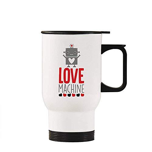 Little Yi Liebesmaschine Reisebecher Isolierter Becher Kaffeetasse Neuheit Becher Tasse Geschenke Idee, Weiß