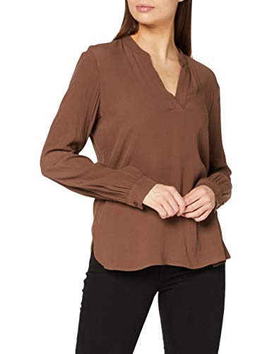 ESPRIT Damen 100EE1F310 Bluse, 210/BROWN, 36