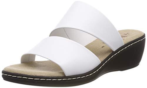 Jana 100% comfort Damen 8-8-27205-22 Pantoletten, Weiß (White 100), 39 EU