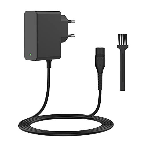BERLS 4.3V - A00390 Cargador Afeitadora para philips OneBlade QP2520, QP2520/20, QP2520/64, QP2520/70, QP2520/72 QP2520/90, MG3720, MG3720/15, BG2026, BG2026/15 OneBlade Recambios - con Luz