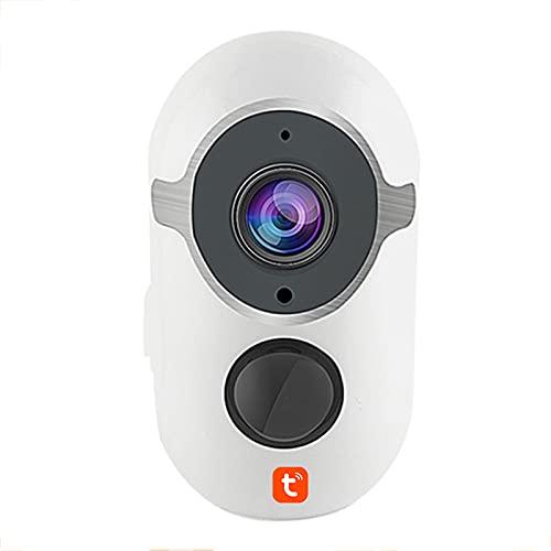 Tuya Cámara IP 1080P, monitor humano recargable del bebé de la detección del CCTV inalámbrico de la vigilancia de la seguridad de WiFi