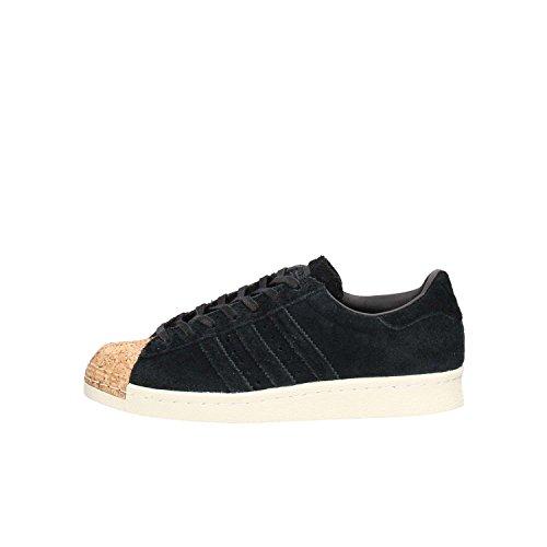 adidas Originals Superstar 80s Cork W Schuhe Damen Echtleder-Sneaker Sportschuhe Schwarz BY2963, Größenauswahl:40