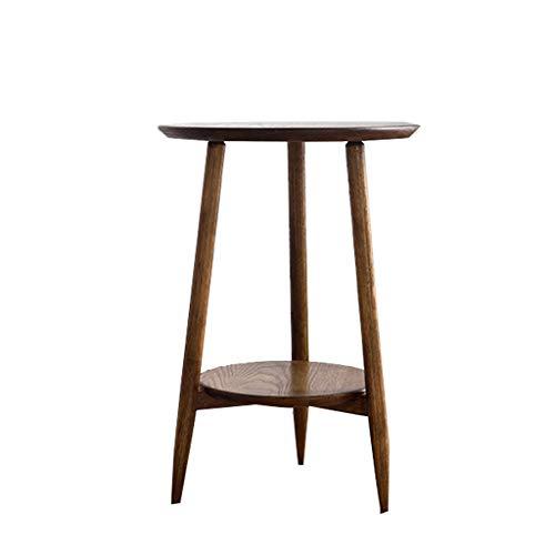 LSX-salontafel Kleine salontafel, salontafel meubilair hoektafel puur hout salontafel wit eiken ronde een paar Scandinavische ronde kleine theetafel eenvoudige woonkamer bijzettafel