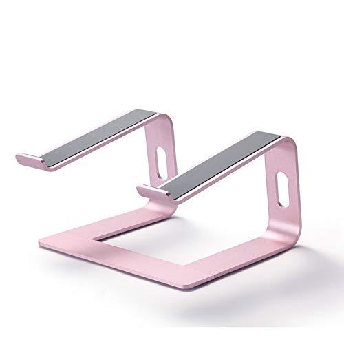 WEIXINMWP Laptop stand, ergonomic aluminum laptop stand, detachable laptop standpipe laptop stand, suitable for laptop,rose gold