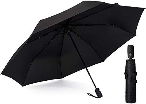 Regenschirm, Taschenschirm mit Auf-Zu-Automatik, leight, klein und kompakt Regenschirm mit Teflon Beschichtung und Windsicherer