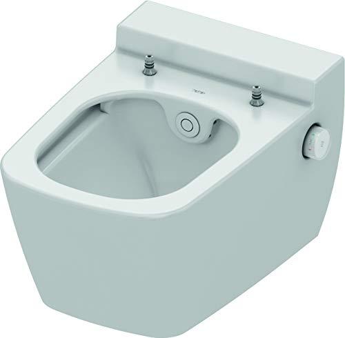 TECEone WC Keramik mit Duschfunktion (Tiefspül WC, Spülvolumen 6 und 4,5 Liter, Duschstab selbstreinigend) 9700200