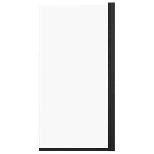 vidaXL Mampara de Ducha Puerta Cabina Baño Pared Cerramiento Partición Cubículo Apertura Central Cristal Seguridad Moderno ESG Negro