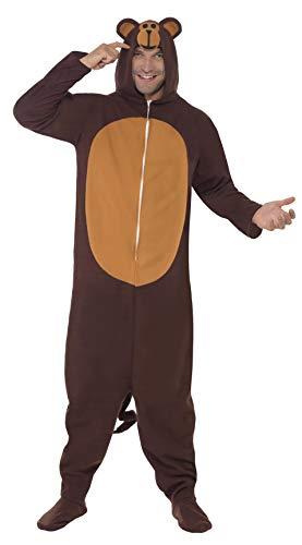 SMIFFYS Costume da scimmia, tutto in uno con cappuccio