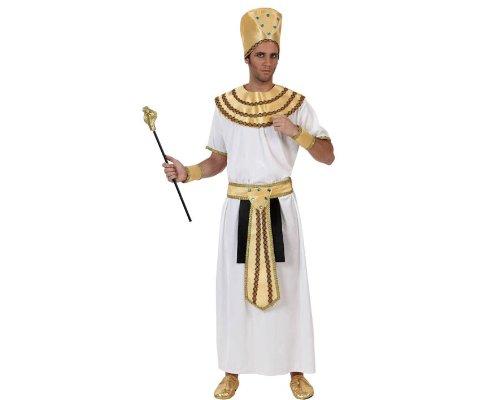 Atosa-70027 Disfraz Egipcio, color blanco, M-L (70027)