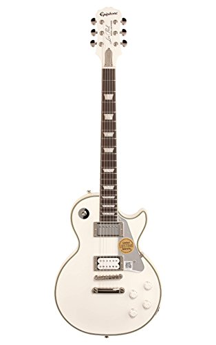 """Epiphone Tommy Thayer""""White Lightning"""" Signature Les Paul Outfit - Guitarra eléctrica, color metallic white"""