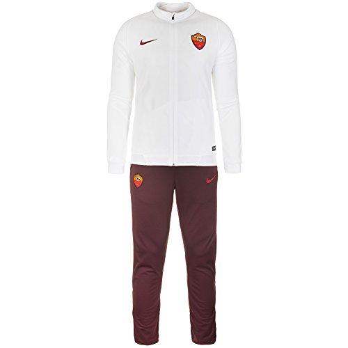 2015-2016 AS Roma Nike Knit Tracksuit (White)