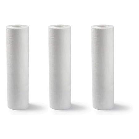 Lot de 3 Cartouches Filtrantes SPUN pour Filtre à Eau – Filtration des Sédiments sable rouille – Format Standard Universel 9'' 3/4 – Durée : 1 an (5 microns)