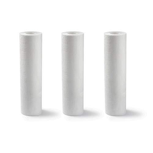 Set di 3 cartucce filtranti SPUN per filtro acqua, filtro per sedimenti sabbia ruggine, formato standard universale 9