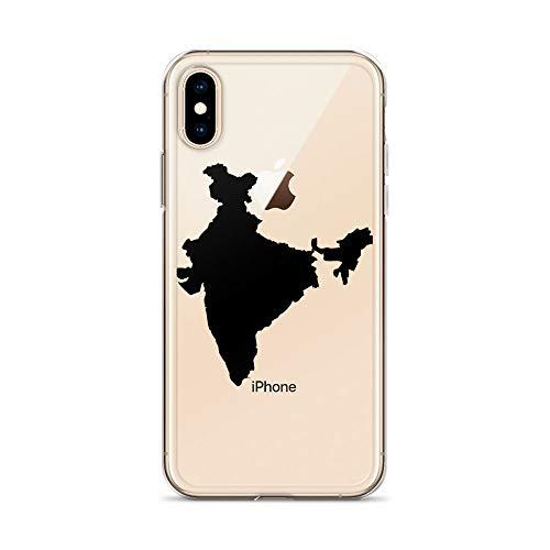 Funda para teléfono móvil indio compatible con iPhone 6Plus/6sPlus, mapa del país, subcontinente, carcasa de protección antigolpes, transparente, alrededor de la protección de dibujos animados M2