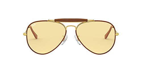Ray-Ban RB 3422Q Occhiali da Sole, Marrone (Brown), 58 mm Unisex-Adulto