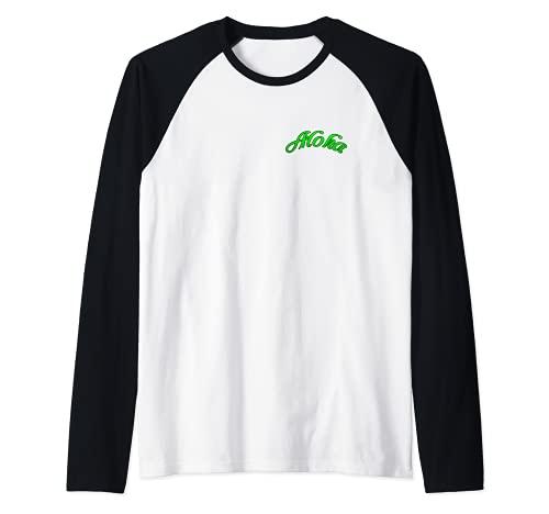 Piña Fresca Con Gafas De Sol Aloha (2 Caras) Camiseta Manga Raglan
